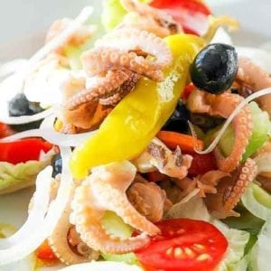 Cuttlefish salad recipe and baby cuttlefish by a new york chef