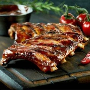 Iberico pork ribs from the mediterranean