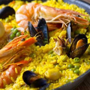 New York Restaurant paella made with our Seasoned Paella Rice from spain