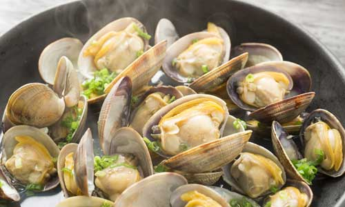 Traditional Spanish Seafood Dishes : Almejas al Pil Pil
