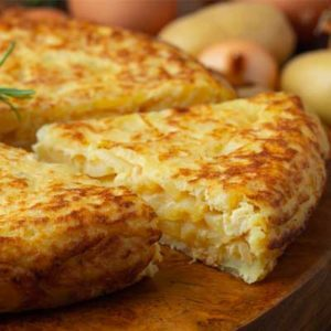 Authentic Spanish omelette with potatoes