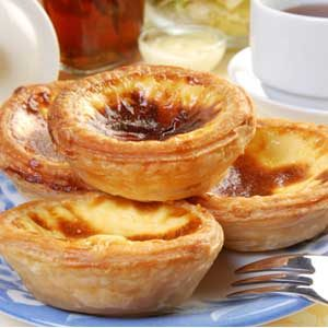 Pasteis de Nata from the Mediterranean on a plate