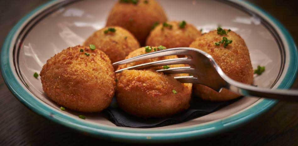 Octopus croquettes in a plate