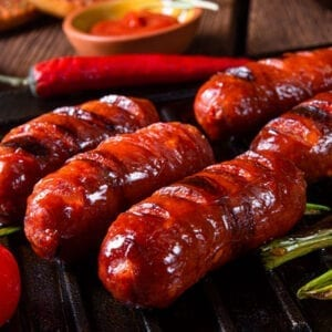 delicious traditionnal cooking chorizo grilled