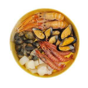 Seafood Paella Box on a white background
